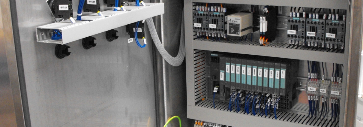 """""""PLC installed in a control cabinet"""""""
